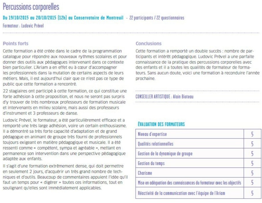 Rapport ARIAM-1
